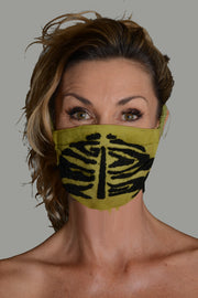 Deeley - Cotton Flanel Wool Embroidery Face Mask