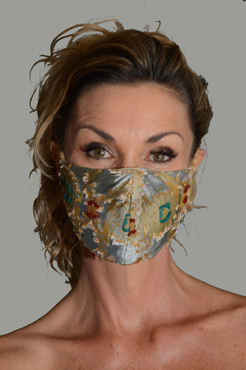 Hunziker - Viscose Printed Embroidery Face Mask