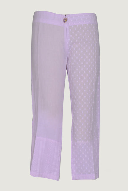 Sofia - Women's Cotton jacquard Cut 3/4 Pants