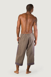 Sebastian - 100% Cotton Cropped Men's Pants With Hand Stitching