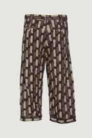 Axton - Cotton Stripe Men's 3/4 Pant with Hand Stitching Details