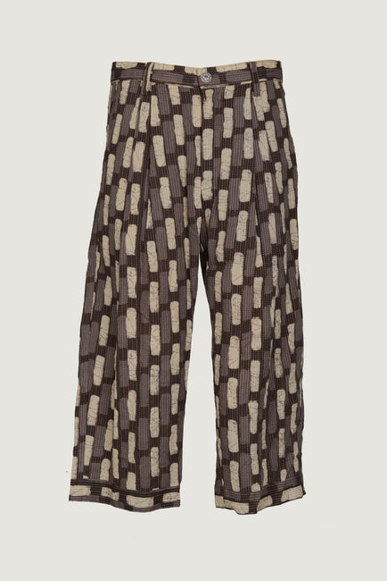 Axton - Cotton Stripe Men's Long Pant with Hand Stitching Details