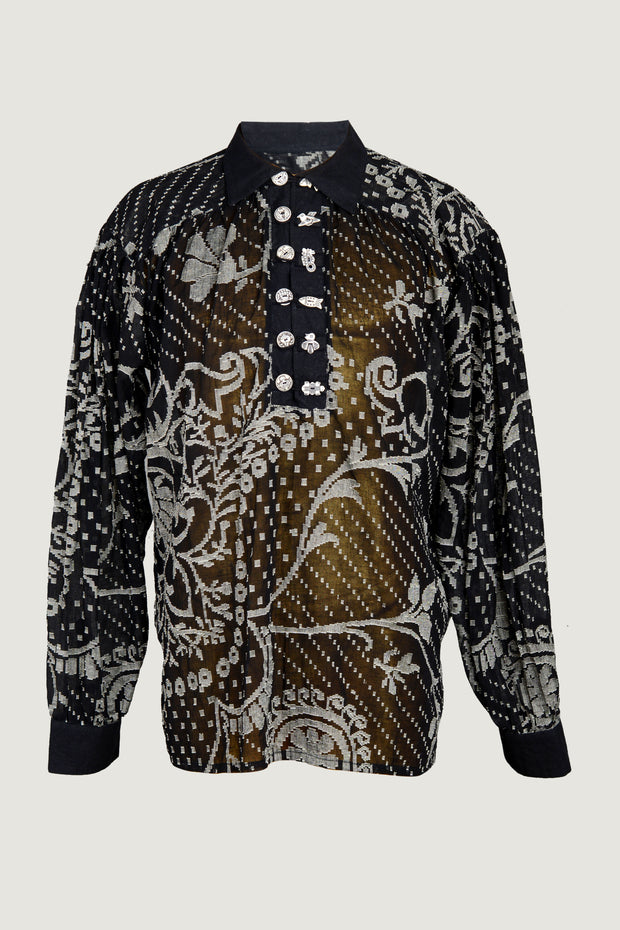 Alwyn - Cotton Woven Long Sleeve Men's Shirt