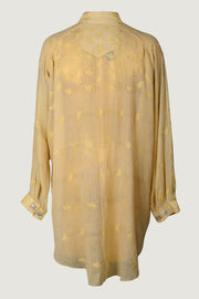 Rara - Cotton Featherlight Jacquard With Hand Carved Bone Buttons