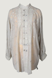 Rara - Cotton Featherlight Jacquard Oversize Men's Shirt Design
