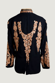 Phoenix - Georgette Embroidery With Hand Carved Bone Buttons