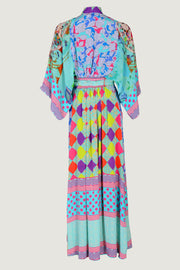 Misha Water - Georgette Digital Print Long Dress