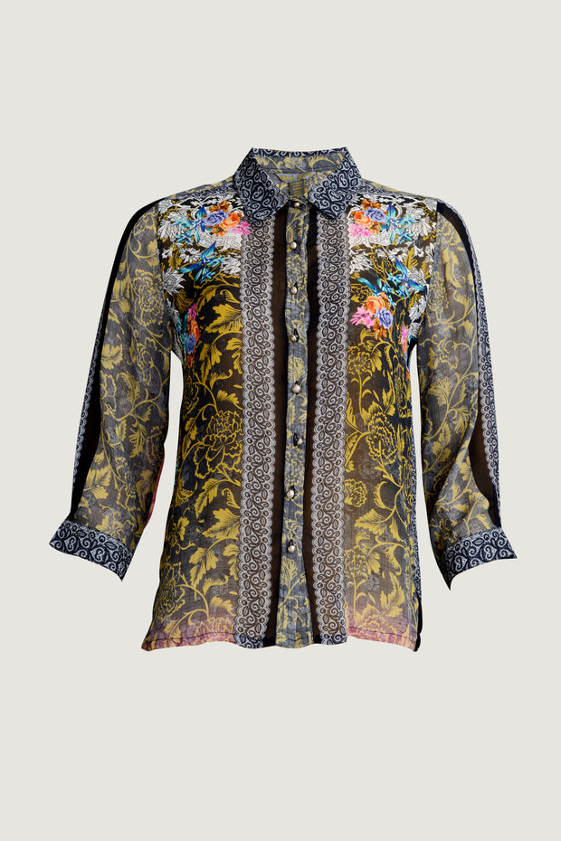 Yelena Shirt - Georgette Digital Printed Chiffon