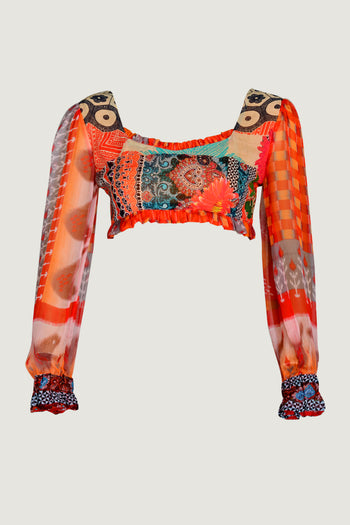 Renata - Georgette Digital Print Top