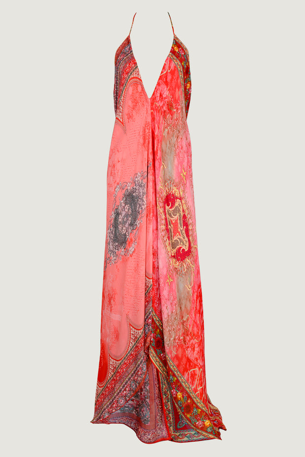 Jofina Chiffon Dress - Floral Printed Low Back
