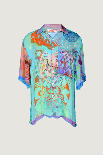 Chadwick Men's Shirt Water - Georgette Digital Print