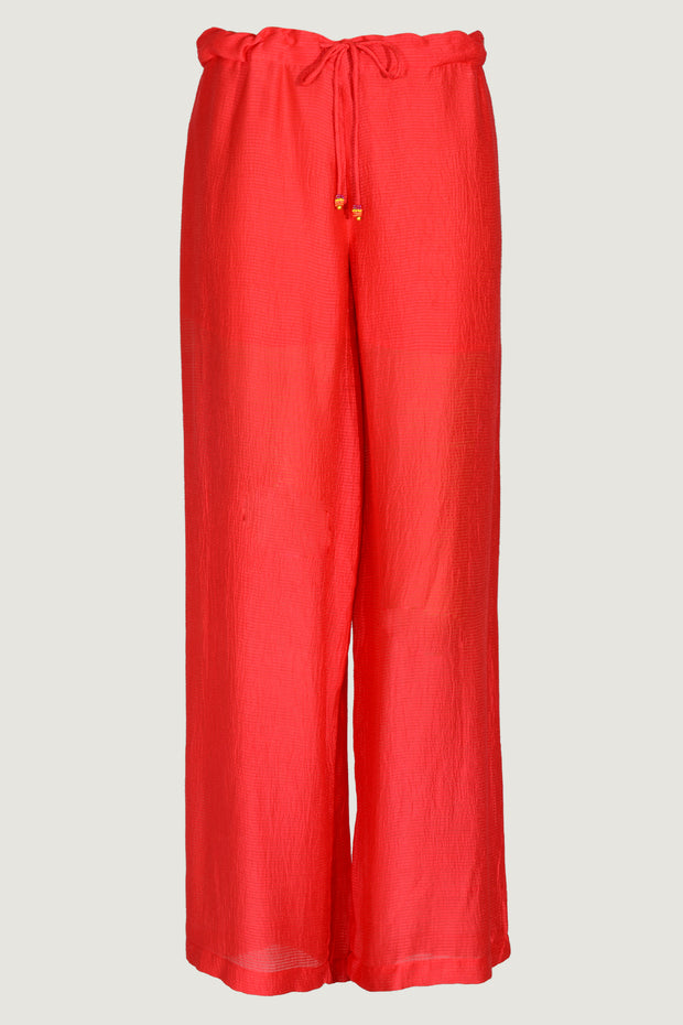 Shiya Silk Cotton Draw String Jogger Style Pants