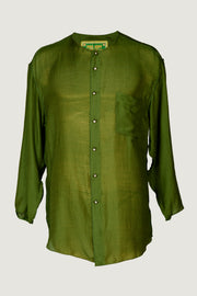 Peter - Silk Cotton with Metal Buttons