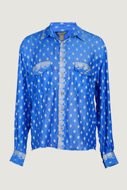 Dylan Shirt - Hand Cut Silk With Hand Carved Bone Buttons