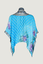Jossie Short Cape - Hand Cut Silk with Hand Painted