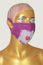 Pears - Temple Border Heart Face Mask