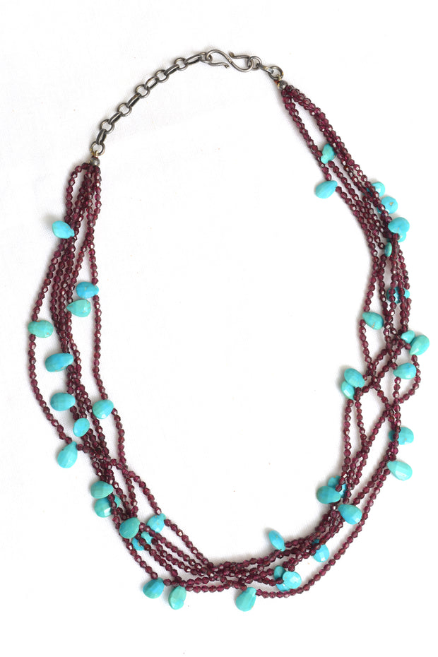 Miller DarkAmethyst and Amazonite Necklace