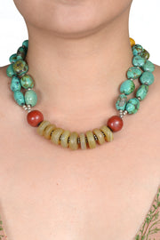 Jhardy Turquoise Magnisite Necklace