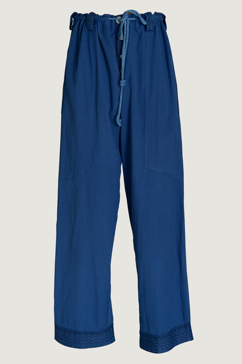 Hite - Soft Cotton With Border Drawstring Pants