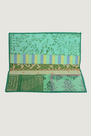 Patchwork Silk Cotton Wallet Forest