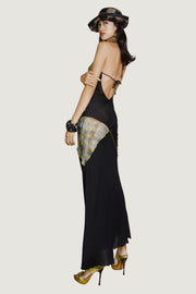 CYNTHIA - Hand Cut Silk Backless Gown