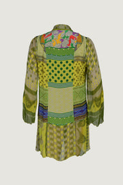 Tiffani - Crepe Digital Print Kebaya Shirt