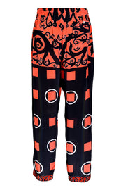 Darrance - Crepe Digital Print Drawstring Pants