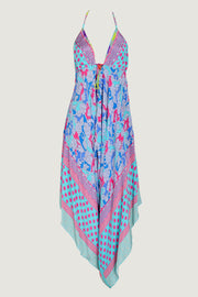 Revina - Crepe Digital Print Halter Playsuit