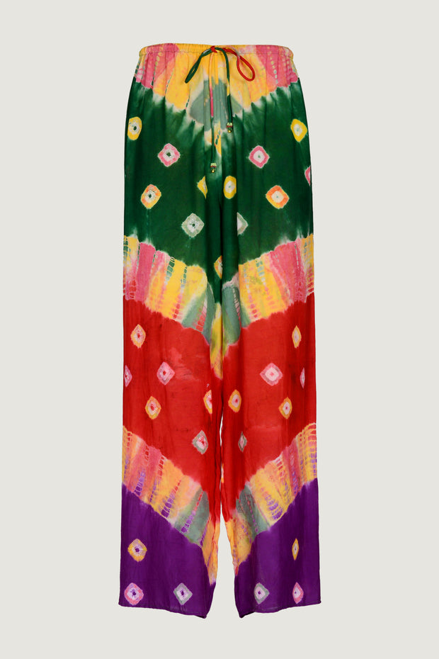 Natalie - Viscose Bandhani Tye Dye Long Pants