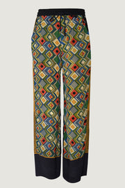 Silk Saree Print Sashy Long Pants