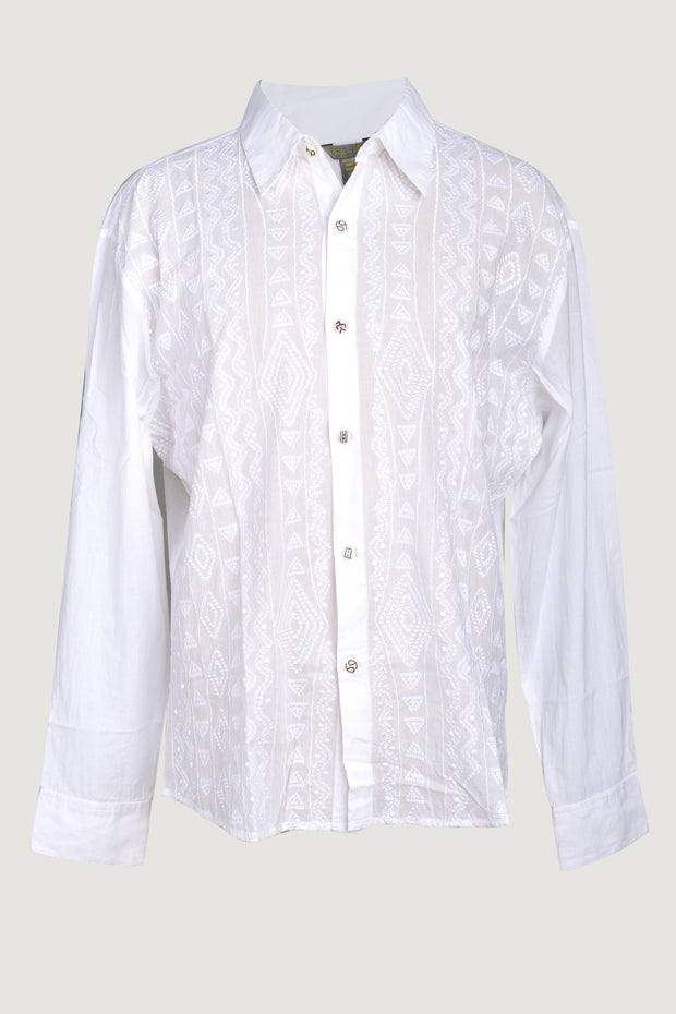 Brylee - Voile Embroidery L/S Men's Shirt