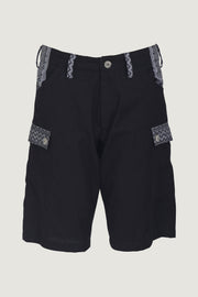 Wyatt - 100% Cotton Shorts With Hand Carved Bone Buttons