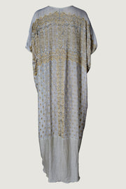 Annette Kaftan Silk Dress - Hand Cut Silk