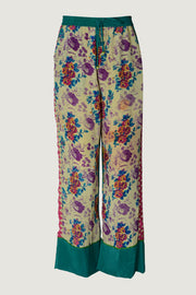 Pruistine Silk Draw String Pants - Printed Silk Limited Edition