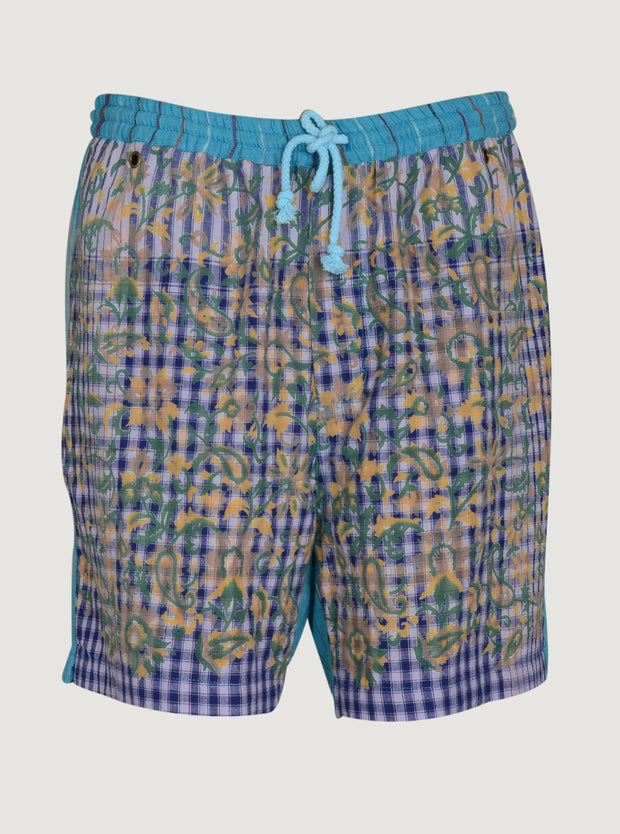 Chokra - Cotton Men's Check Shorts