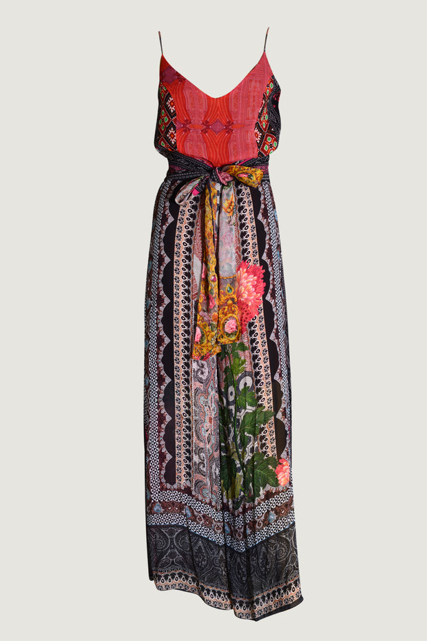 Nikita Earth - Georgette Digital Print Long Jumpsuit