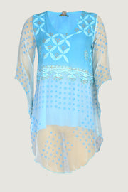Maisha - Chiffon Print Embroidery Dress