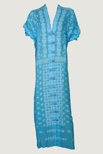 Adonia Dress- Feather Light Cotton Jacquard