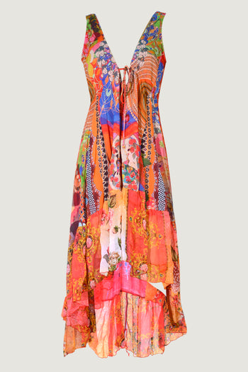 Kenya Fire - Georgette Digital Print Long Dress
