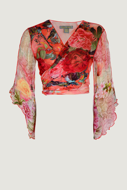 MARISHA Wrap Top - Georgette Digital Print