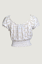 Rylee Crop Top- Hand Cut Silk With Elastic Waist