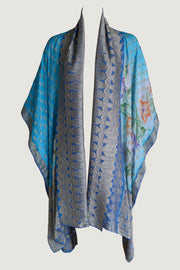 Jannie Cape - Hand Cut Silk with hand painted