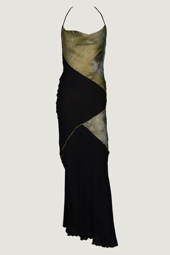CYNTHIA - Hand-Cut Silk Backless Gown