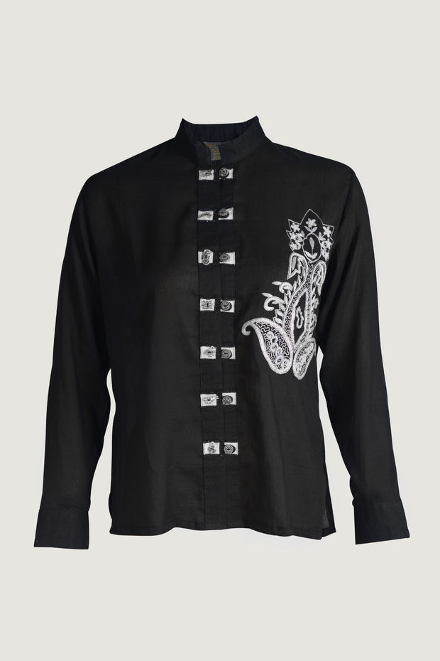 Lefony -  Cotton Hand Embroidery Womens Shirt