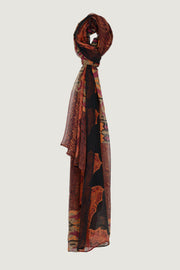 Naomi Men Scarf - Georgette Chiffon Digital Print