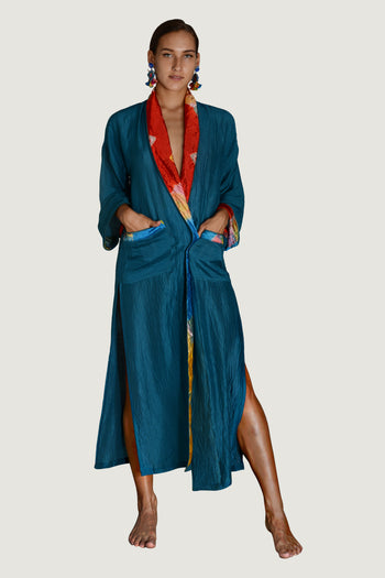 Brianna - Viscose Tye Dye Silk Cotton Robe