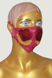Groty - Temple Border Wool Embroidery Face Mask