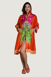Yaritza - Viscose Tye Dye Silk Cotton Jacket