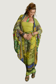 Airell - Georgette Digital Print Long Cape