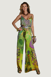 Nikita Fire - Georgette Digital Print Long Jumpsuit